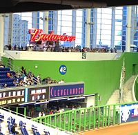 The Budweiser Bar and The Clevelander in left field, to the left of the HR feature (not seen)
