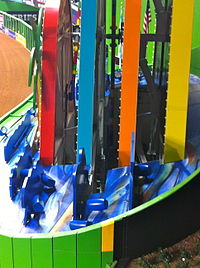 A side view of the home run structure at Marlins Park
