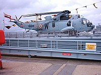 A Sea King assigned to the destroyer.