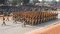 CISF marching contingent in New Delhi
