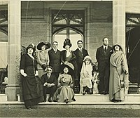 House Party at Gladswood House in 1911. Ethel is seated in the centre and Bertie is third from the left.