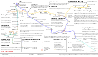 A schematic diagram of the SkyTrain network