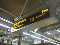 Real-time information is provided on every station platform on the Canada Line.