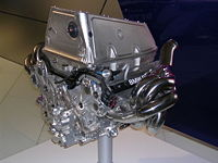 A BMW Sauber P86 V8 engine, which powered their F1.06