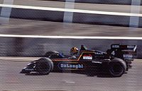 Stefan Bellof driving for Tyrrell at the 1984 Dallas Grand Prix