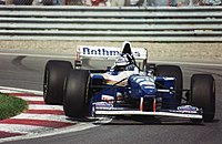 Damon Hill driving for Williams at the 1995 Canadian Grand Prix