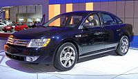 """The 2008 Ford Five Hundred prototype, which was renamed """"Taurus"""" upon Alan Mulally's request"""
