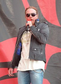 Rose at the Download Festival in Donington Park, England, in June 2006
