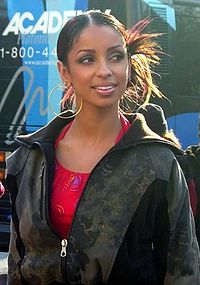 Mýa at the 2003 Macy's Thanksgiving Day Parade in New York City.
