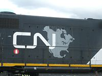 """The """"CN North America"""" logo that was used from 1993 to 1995, before the plain """"CN"""" logo was reinstated"""