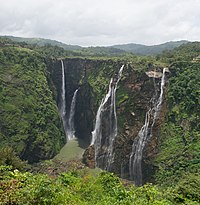 Jog Falls, formed by Sharavathi River, are the second-highest plunge waterfalls in India.