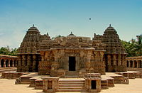 Chennakesava Temple is a model example of the Hoysala architecture, later repaired in the 16th century with financial support and grants by the Vijayanagara Emperors.