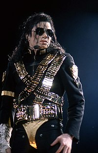 Jackson during the Dangerous World Tour in 1993. Dangerous has been recognized by writers as an influence on contemporary pop and R&B artists.
