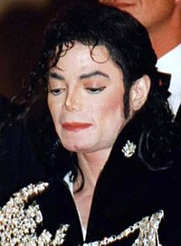 Jackson at the 1997 Cannes Film Festival for the Michael Jackson's Ghosts short film premiere