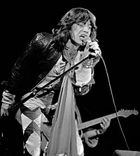 Jagger performing in May 1976, in Zuiderpark Stadion, The Hague, Netherlands