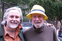 Pete Seeger (right), 88 years old, photographed in March 2008 with his friend, the writer and musician Ed Renehan