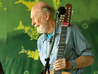 Seeger at the Clearwater Festival in June 2007