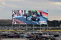 Charlotte Motor Speedway's high definition video screen in 2013.