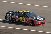 Michael McDowell in the No. 59 at Daytona International Speedway in 2016.