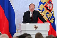 President Vladimir Putin delivering the 2012 Address to the Federal Assembly