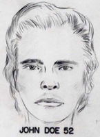 Forensic sketch of the second unidentified male located in Wilmington, California.