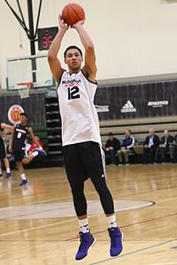Simmons at a closed McDonald's All-American practice