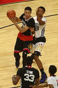 Simmons in the 2015 McDonald's All-American Game