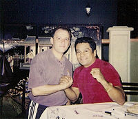 Roberto Durán (right) held world championships in four weight classes: lightweight, welterweight, light middleweight and middleweight