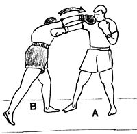 Cross  - in counter-punch with a looping