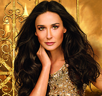 Moore in an advertisement for Swedish cosmetic company Oriflame in 2012