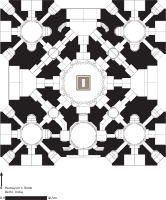 Floor plan of tomb structure of Humayun's Tomb