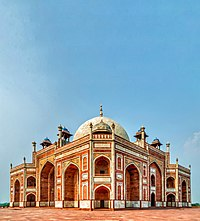 View of the Southwestern Corner of Humayun's Tomb