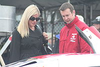 Busch with his former wife, Eva