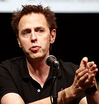 Gunn promoting the film at the 2013 San Diego Comic-Con