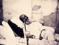Bahadur Shah Zafar in 1858, just after his trial and before his departure for exile in Burma.