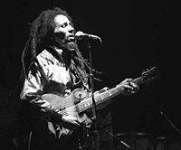 Bob Marley, one of the most famous reggae artists from Jamaica