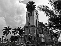 Mandeville Church (est. 1816), an Anglican church in Manchester Parish; Christianity is the largest religion in Jamaica
