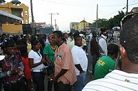 The streets of Kingston, Jamaica's capital and largest city