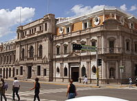 The City Hall of Chihuahua is an example of the neoclassical architecture that was erected during the presidency of Porfirio Díaz.