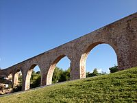 An 18th century colonial aqueduct built in Chihuahua City