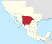 Map of Chihuahua in 1824