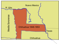 La Mesilla, a large area that was claimed by the state of Chihuahua.