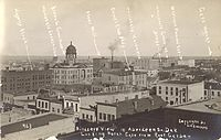 Labeled photograph of downtown Aberdeen, 1910.