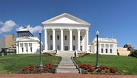 Virginia State Capitol, designed by Jefferson (wings added later)