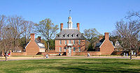 Governor's Palace, Governor Jefferson's residence in Williamsburg