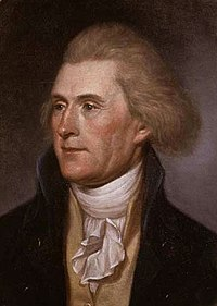 Thomas Jefferson in 1791 at 49 by Charles Willson Peale