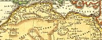 Barbary Coast of North Africa 1806. Left is Morocco at Gibraltar, center is Tunis, and right is Tripoli.