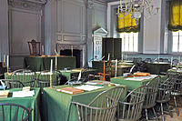 Independence Hall Assembly Room where Jefferson served in Congress
