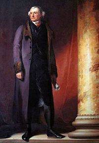 Thomas Jefferson at age 78. Portrait by Thomas Sully hanging at West Point, commissioned by Faculty and Cadets, 1821.