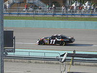Denny Hamlin at Homestead in 2007.